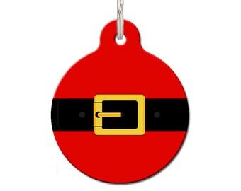 Santa Suit Dog ID Tag   Christmas Dog ID Tag   FREE Personalization