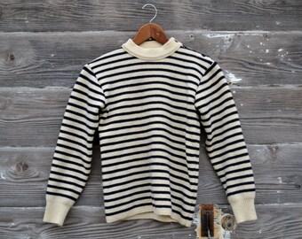 True Breton Stripe Sweater Made in France - Size Petite Small