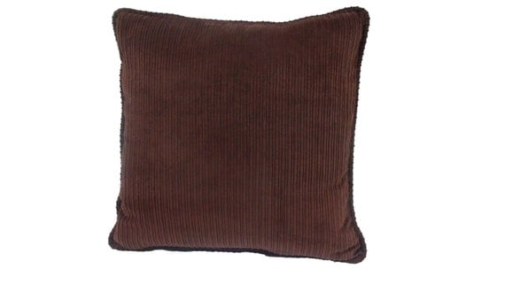 Brown Corduroy Throw Pillows : Brown Wide Wale Corduroy 20 inch Pillow accent pillow throw