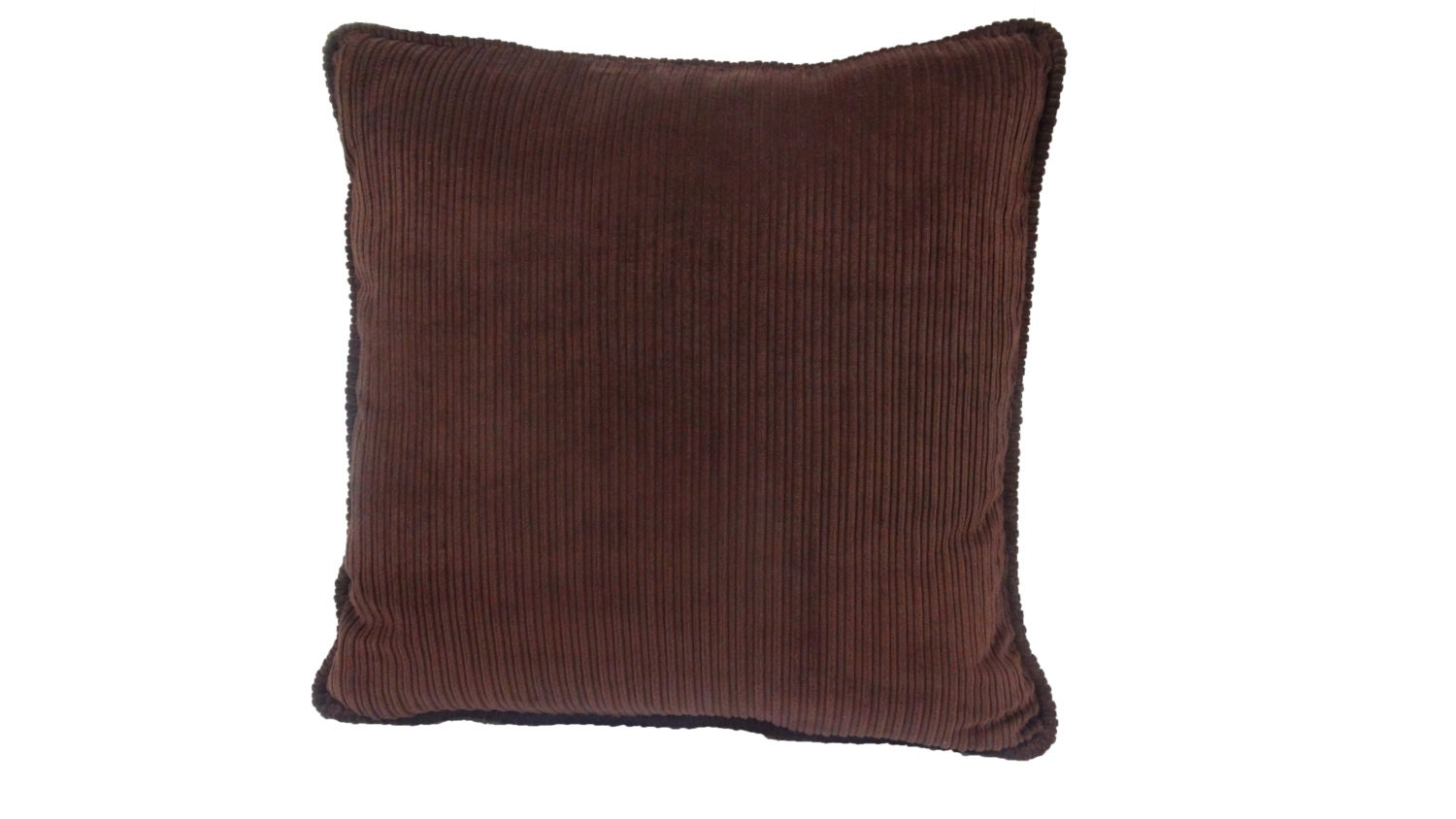 Brown Corduroy Throw Pillow : Brown Wide Wale Corduroy 20 inch Pillow accent pillow throw