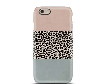 iPhone 7 case tough, iPhone 7 Plus case tough, iPhone 6 case tough, iPhone 5 case tough, personalized iPhone, phone case  - Leopard
