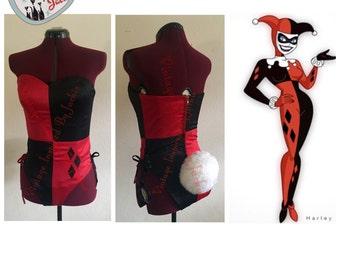 Harley Quinn Inspired Bunnysuit