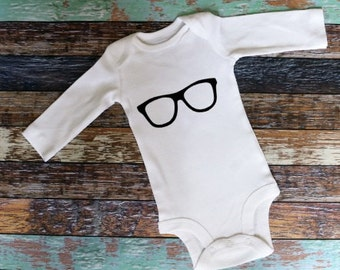 Glasses Bodysuit, Baby Outfit with Glasses, Newborn Outfit Baby Outfit, Baby Bodysuit, Newborn Bodysuit, Toddler Outfit, Hipster Baby
