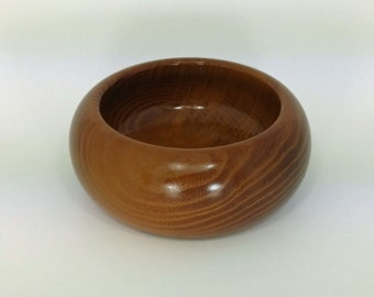 Orange Wood Bowl