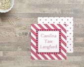 Carolina - Personalized Gift Tags - Enclosure Cards - Stripe Gift Tags - Personalized Name Cards - Polka Dot Gift Tag - Kids Gift Tag