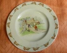 Royal Doulton Bunnykins vintage plate Barbara Vernon 1930s/40s