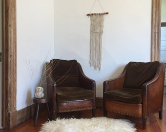 1930's French Club Chairs - Authentic
