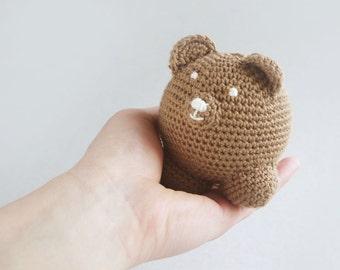 Crochet Bear, amigurumi bear, kids soft toy, kids crochet bear ball, kids room decoration, handmade bear,