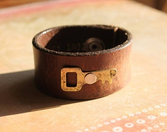 Key and leather cuff