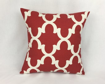Red Pillow Covers - Red Pillow Cover - Red Throw Pillow Cover - Red Square Throw Pillow