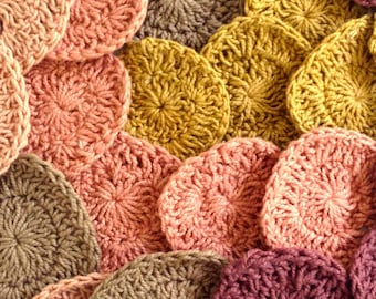 "20 Assorted Crochet Rounds for Craft, ""Light Pinks"""