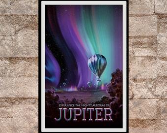Reprint of a NASA/JPL SpaceX Planet Jupiter Poster