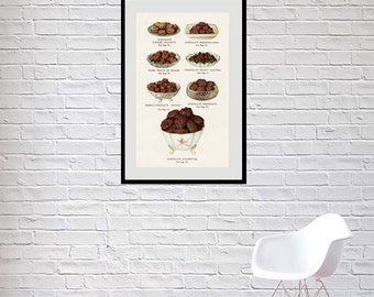 Old Chocolate Store Window Poster Reprint