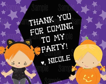 Printable Halloween Birthday Favor Tags