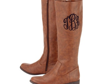 SALE Monogrammed Brooklyn Boots