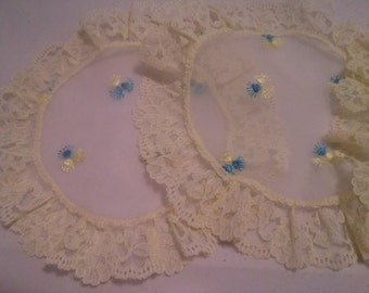 Vintage Set of Three Silk and Lace Doilies
