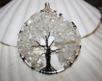 Quartz Tree of Life Pendant