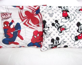 8 ACA Regulation Cornhole Bags -  Spiderman and Mickey Mouse
