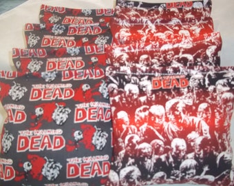 8 ACA Regulation Cornhole Bags - The Walking Dead on 2 Amazing Prints