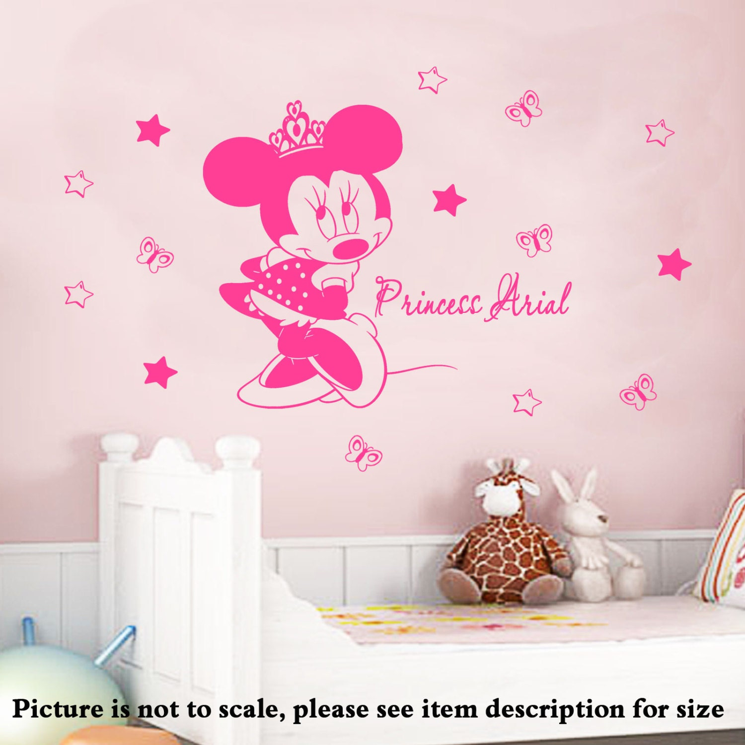 Glossy Crown Wall Decor : Discount disney minnie mouse princess crown bedroom by