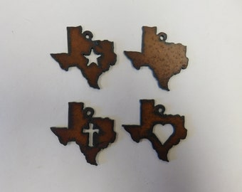 Texas Charms with images inside of them any two (2) mix and match