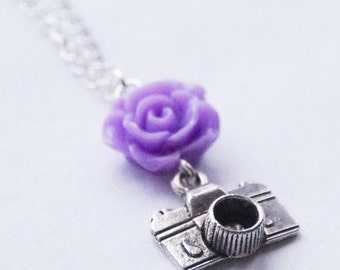 Camera Necklace, Selfie Necklace, Photographer Necklace, Vintage Camera Necklace, Photographer Gift Camera Jewelry Wedding Photographer Gift