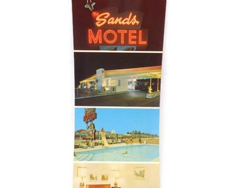 Vintage Post Card, Sands Motel Post Card, Anaheim Post Card, Ephemera