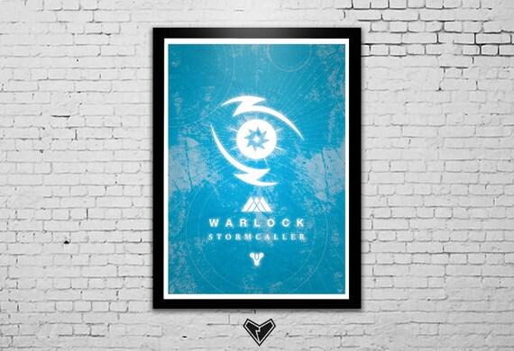 Destiny warlock stormcaller fanart poster by blkhrtart on etsy - Warlock stormcaller ...