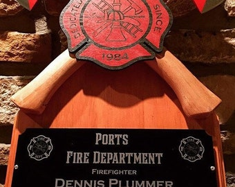 Crossed axe firefighter special occasion  award.