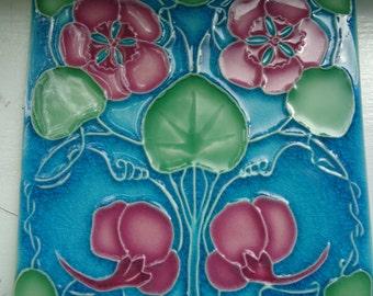 Art Noueau Style Porcelain Tile