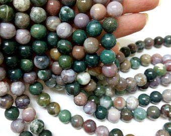 Indian Agate Gem Beads_S3564654654654_at Choise Size Facetted or Round Indian Agate of 4,6,8,10,12 mm