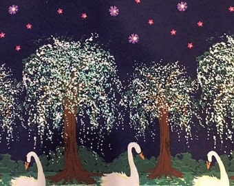 Swan Lake - Cotton Fabric