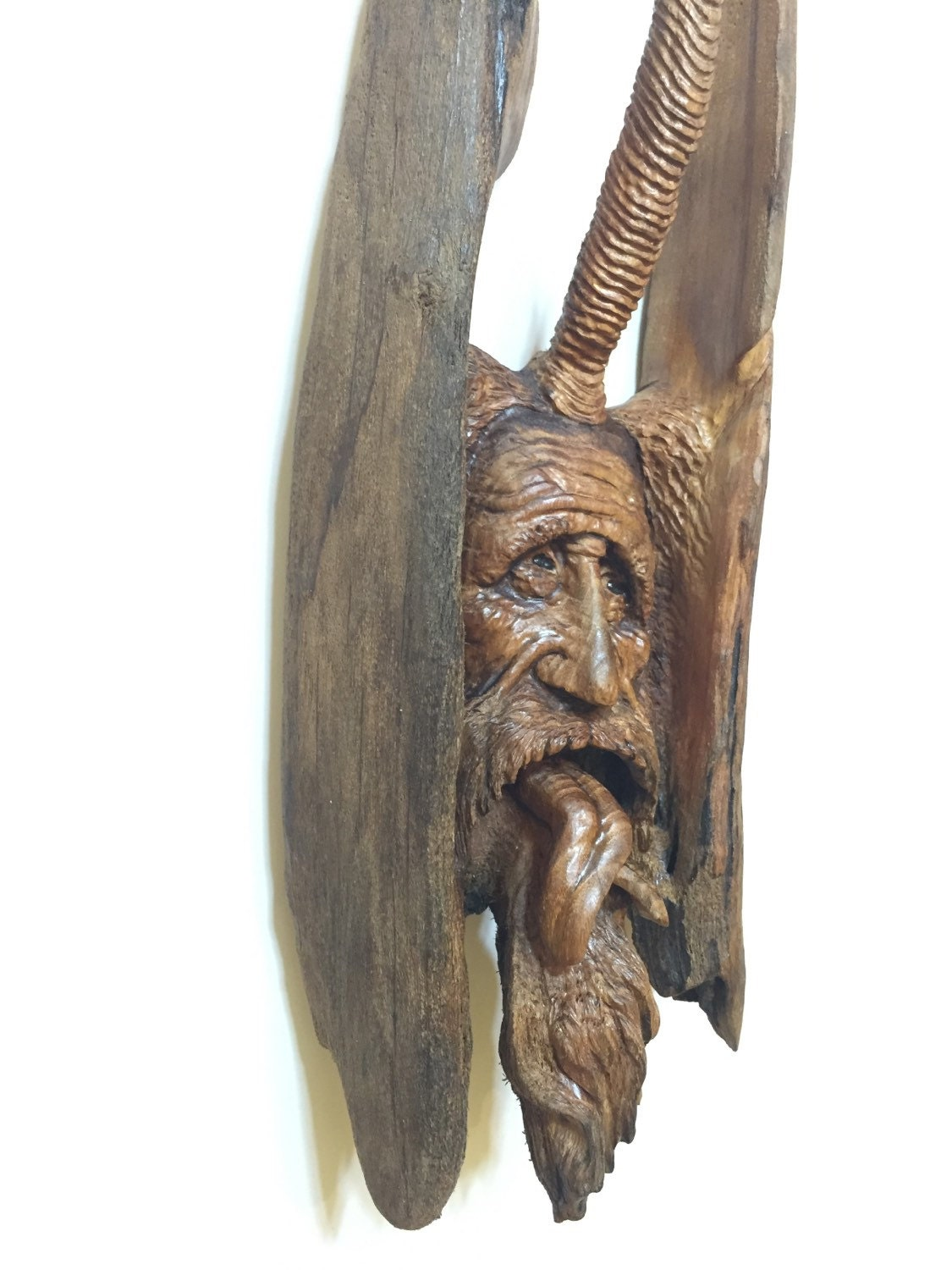 Sale wood wall art spirit carving hand carved