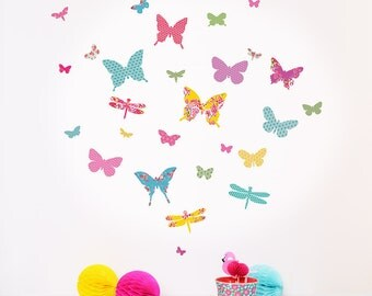 Mini Shanghai Butterfly fabric wall stickers