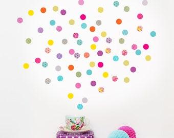 Mini Shanghai Dots fabric wall stickers