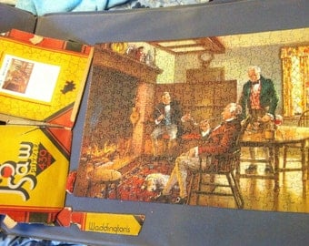 1930s Waddingtons Jigsaw Puzzle - Volume 33: When Old Friends Meet
