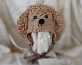 Poodle hat, hat, beanie, hat