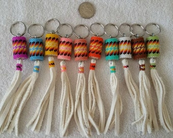 Native American beaded mini keychain. Available in any main color