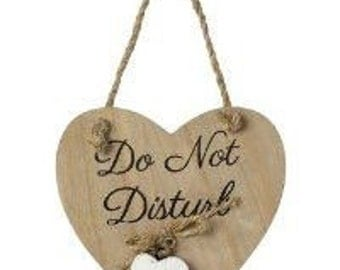 "Wooden Hanging Sign ""Do Not Disturb"" Hotel Bedroom Gift"