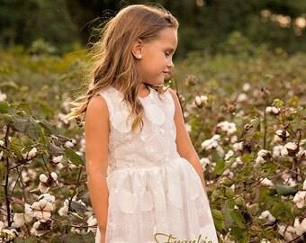 Girl White Dress,Toddler Girl White Dress, Birthday Dress, Girl Dress, White Dress,