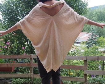 Linen Shirt  Extravagant Shirt  Tunic  Oversize Asymmetrical Tunic & Nara LT004
