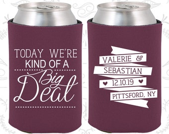 Today We are Kind of a Big Deal, Fun Wedding Gifts, Vintage Wedding Favors, Romantic Wedding Favors, Wedding Can Coolers (392)