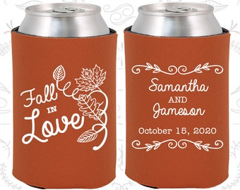 Burnt Orange Wedding, Can Coolers, Burnt Orange Wedding Favors, Burnt Orange Wedding Gift, Burnt Orange Wedding Ideas (377)