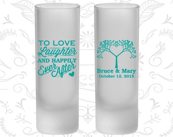 Love Laughter Happily Ever After, Frosted Shooters, Love Tree, Fairy Tale Wedding (551)