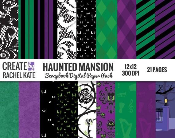 disney haunted mansion halloween inspired digital scrapbook