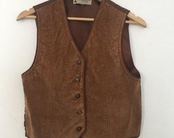 70's Suede Brown Vest