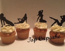 Pin-up Girl Inspired Cupcake Toppers