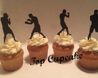 Boxing Inspired Cupcake Toppers - 12
