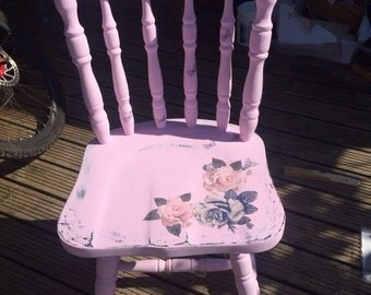 Shabby Chic Decoupage Country Style Chair