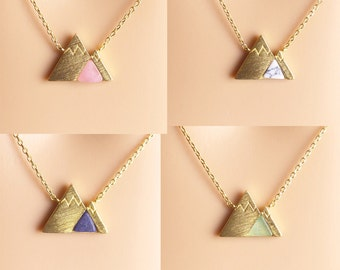 SALE, Mountain Necklace, gemstone mountain necklace,gold mountain,birthday present,Gift idea,Necklaces,Christmas present,holiday gift